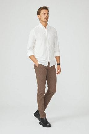Avva Erkek Beyaz Armürlü Alttan Britli Yaka Slim Fit Gizli Patlı Gömlek A02Y2216 3