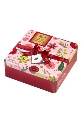 Elit Çikolata Gourmet Collection Çiçekli Metal Kutu 167g 1