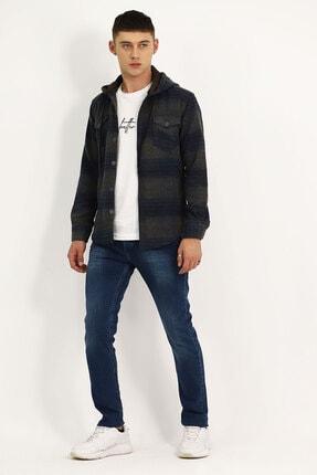 Erkek Mavi Yıkamalı Jeans 202JK.841