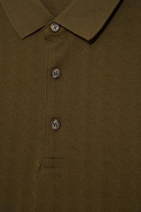 Halifaks Erkek Haki Polo Yaka Pamuklu T-shirt 1
