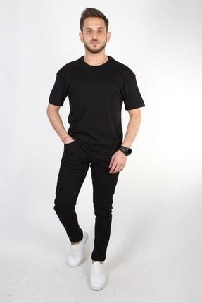 YASAR GİYİM Erkek Siyah Oversize T-shirt 4