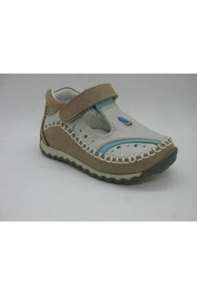 Picture of Erkek Bebek  Gri  Mavi 2218 Doğal Deri Ortopedik Destekli Ayakkabısı 21