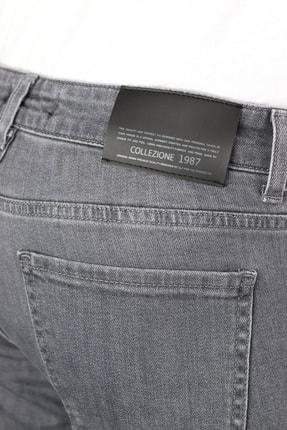 Collezione Collezıone Johen Slim Fit Gri Kot Pantolon 4