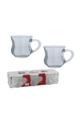 Paşabahçe 55373 Dem Kulplu Kahvaltı Keyif Çay Bardağı 140 Cc 6'lı 1