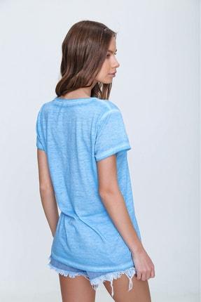 Trend Alaçatı Stili Kadın Mavi Askı Detaylı Yıkamalı T-Shirt MDA-1124 3
