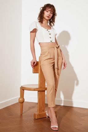 TRENDYOLMİLLA Taş Petite Kuşaklı Pantolon TWOSS21PL0522 3