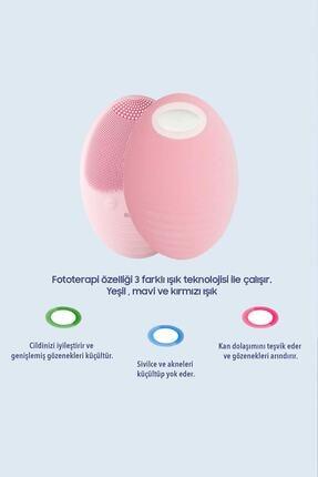 RossClean Pro Yüz Temizleme Ve Masaj Cihazı 5 Kademeli  Fototerapi Modu  Kablosuz Şarjlı  Pembe 4