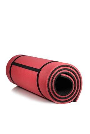 Walke 16 Mm Pilates Kamp Matı Kırmızı Siyah Taşıma Askılı 2