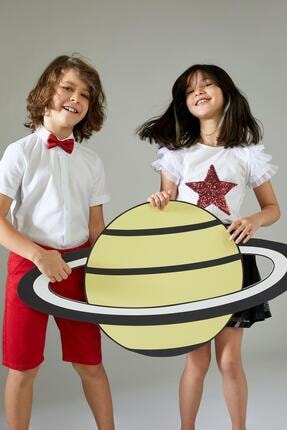 Defacto Kız Çocuk Yıldız Payetli Kısa Kol Tişört 3