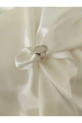 accessoriesbydream Kadın Beyaz Altın Görünümlü Şovalye Yüzük 0