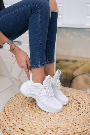 McDark Kadın Beyaz Sneaker 0