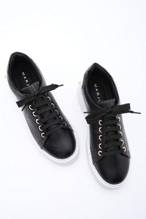 Marjin Kadın Siyah Sneaker Spor Ayakkabı Volares 2