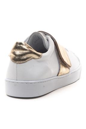 GRADA Kadın Beyaz Hakiki Deri Önden Tek Bantlı Sneaker Ayakkabı 4