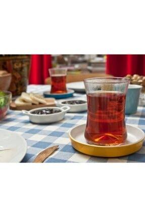 Koleksiyon Ev ve Mobilya Istanbul Tiryaki Sarı 12 Parça Çay Seti Faruk Malhan Imzalı 2