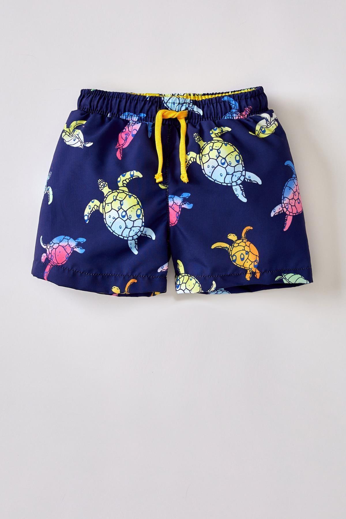 مایو دیفکتو پسرانه بچگانه طرح لاکپشت آبی    Defacto