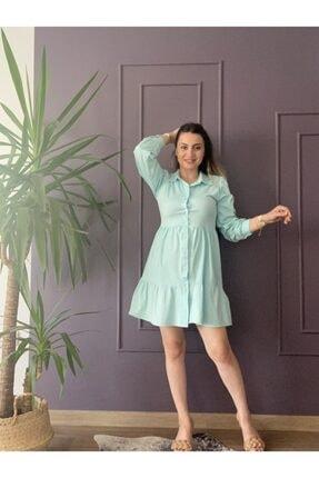 Poplin Mint Yeşili Elbise Poplin-mint-yeşili-elbise-0001