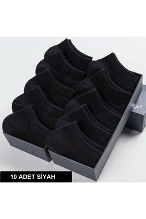 تصویر از 10 Çift Bambu Siyah Erkek Patik Çorap Bilek Boy