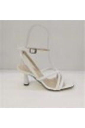 Beyaz Topuklu Ayakkabı 7022