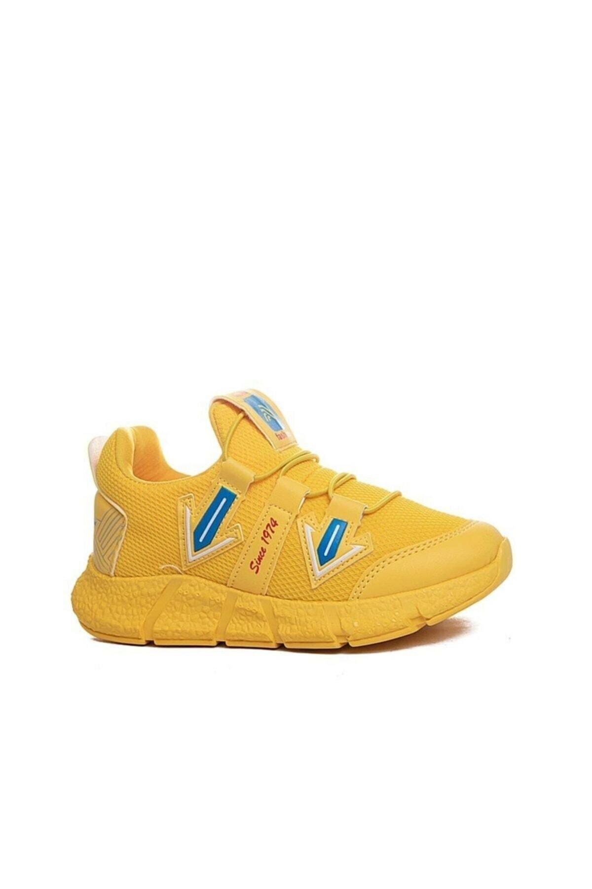 Unisex Çocuk Sarı Spor Ayakkabı