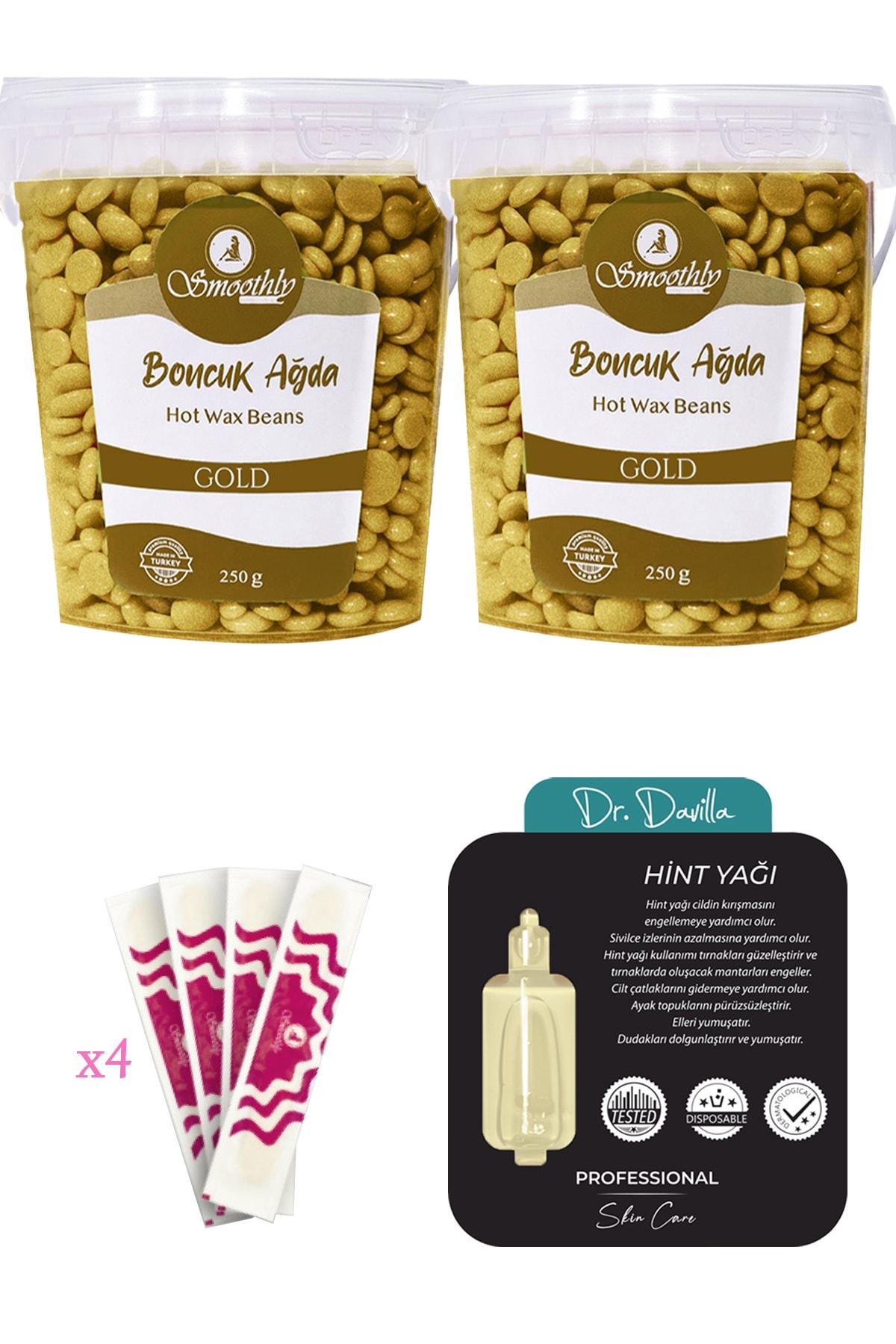 Gold Yüz Bikini Bölgesi Soyulabilir Granül Boncuk Ağda 2 X250 G.+tekli Hint Yağı +4 Spatula
