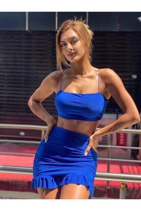 Askılı Bluz Etek Takım PAP17801036