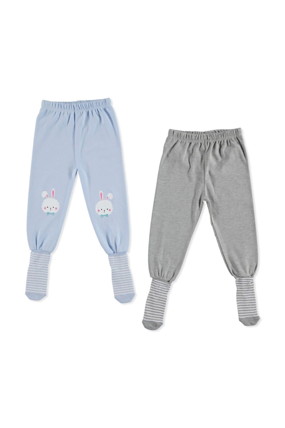 Bebek 2li Çoraplı Pijama Pantolon