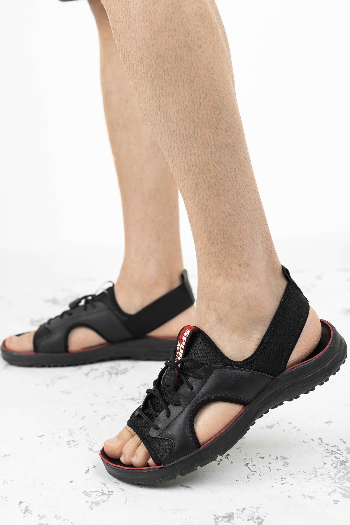 Erkek Sandalet Cırtlı Yazlık Ayakkabı Gz-11052