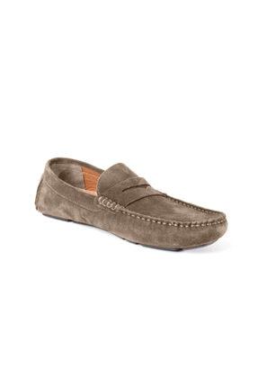 Loafer Erkek Günlük Ayakkabı Hakiki Deri Mevsimlik Ayakkabı Vizon Rengi LOAFER-GOLİTE