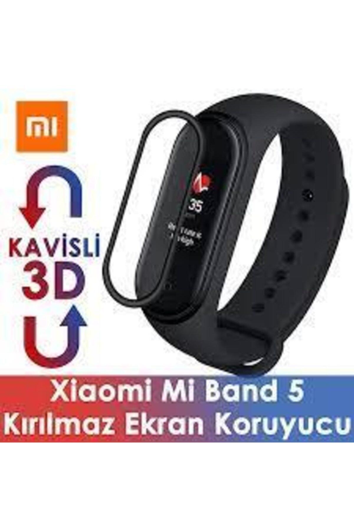 Xiaomi Mi Band 6-mi Bnad 5 3d Kavisli Full Kaplama Koruyucu