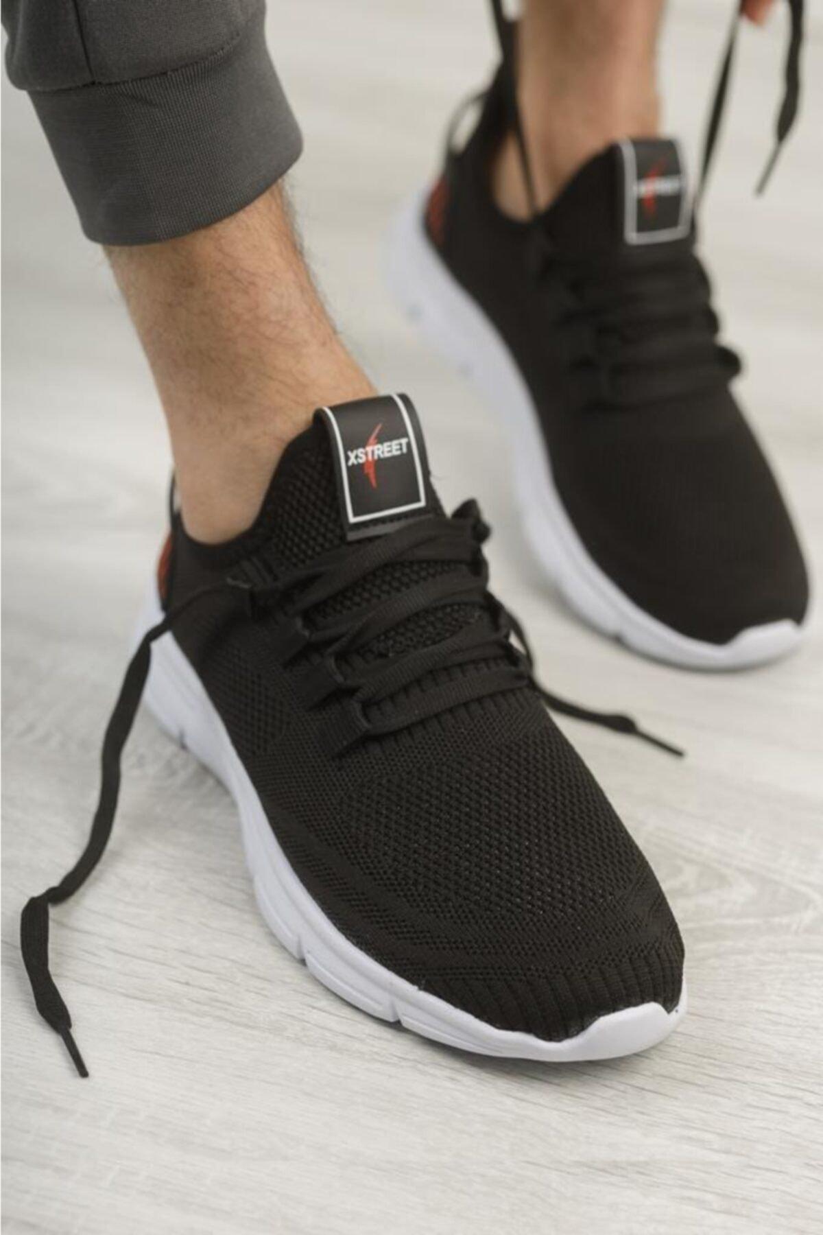Erkek Siyah Triko Spor Sneaker Xstreet 430