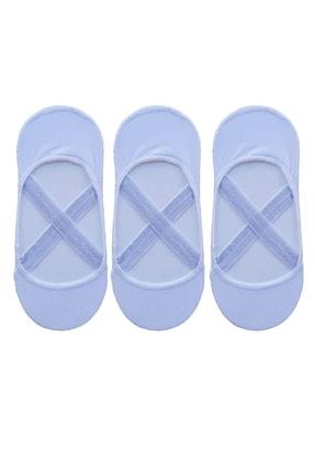 3lü Kadın Pilates Yoga Çorabı Çapraz Bantılı Çorap P91485S3407