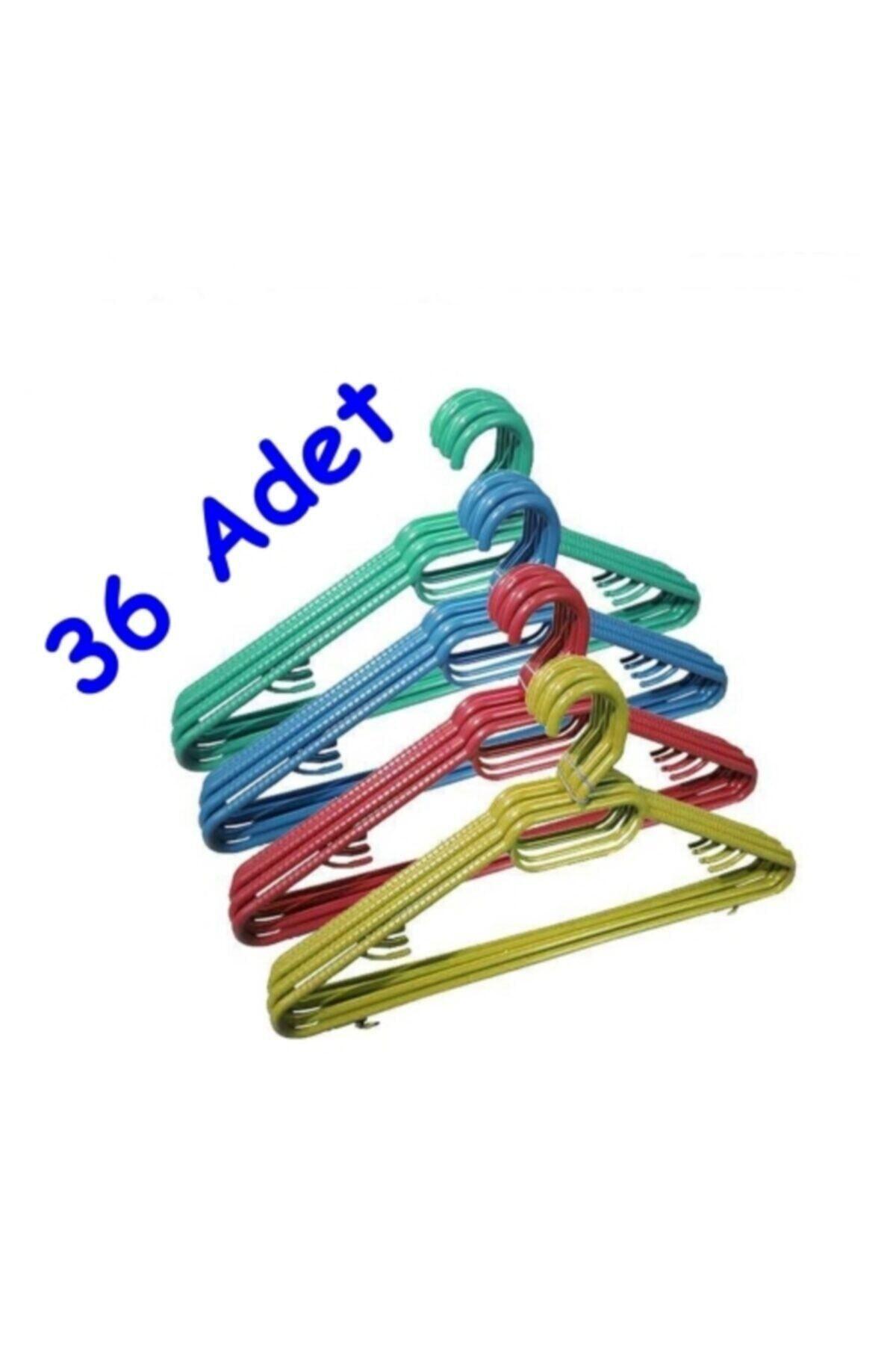 36 Adet Plastik Elbise Askısı
