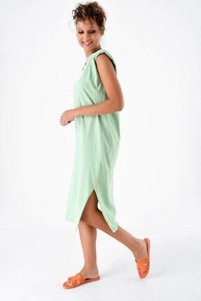 Mint Yeşili Vatkalı Elbise 4898MKSP