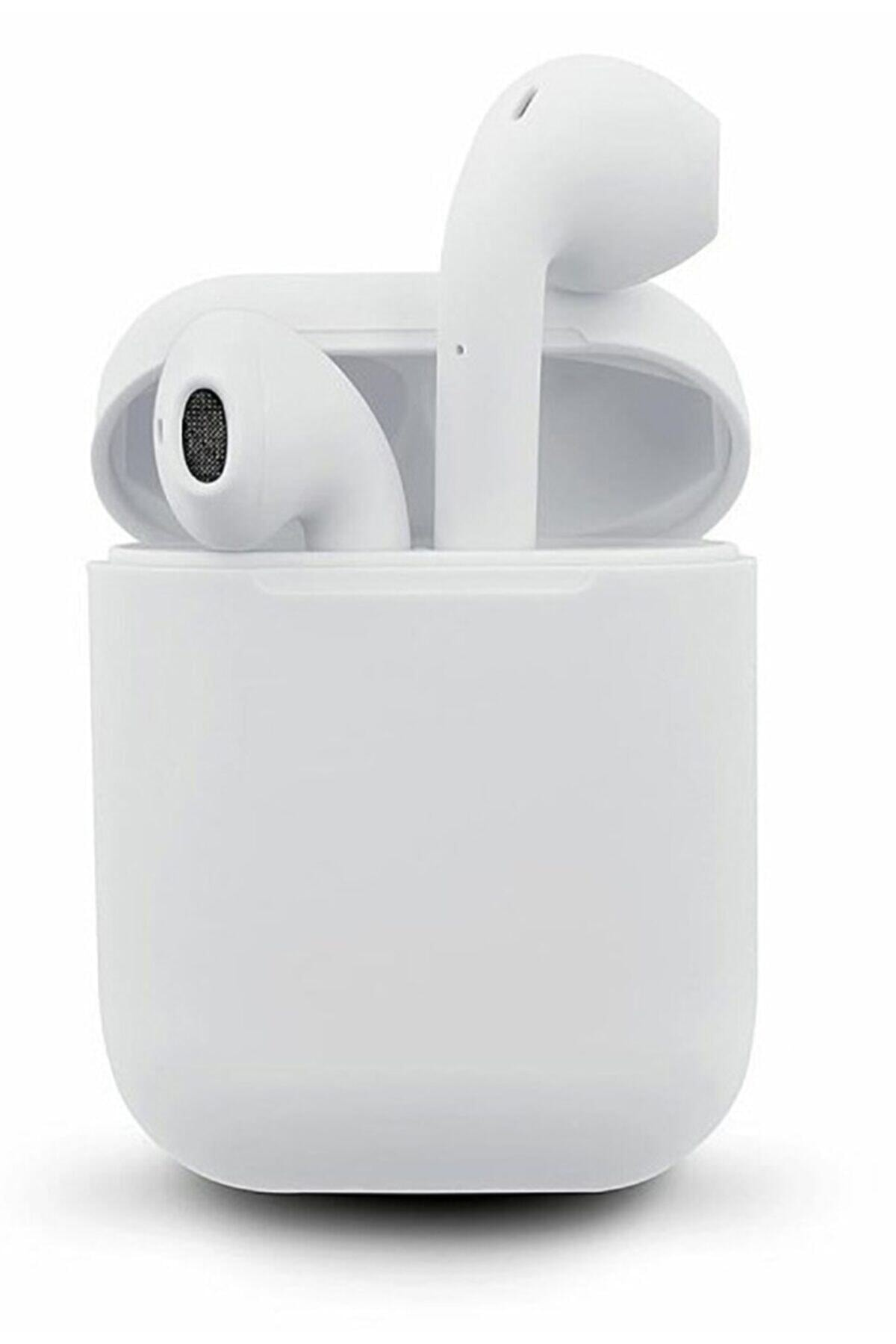 I12 Tws Beyaziphone Android Universal Uyumlu Airpods 5.0 Bluetooth Kulaklık