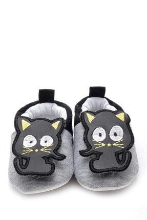 Picture of 3 Boyutlu Kedi Nakışlı Patik Siyah