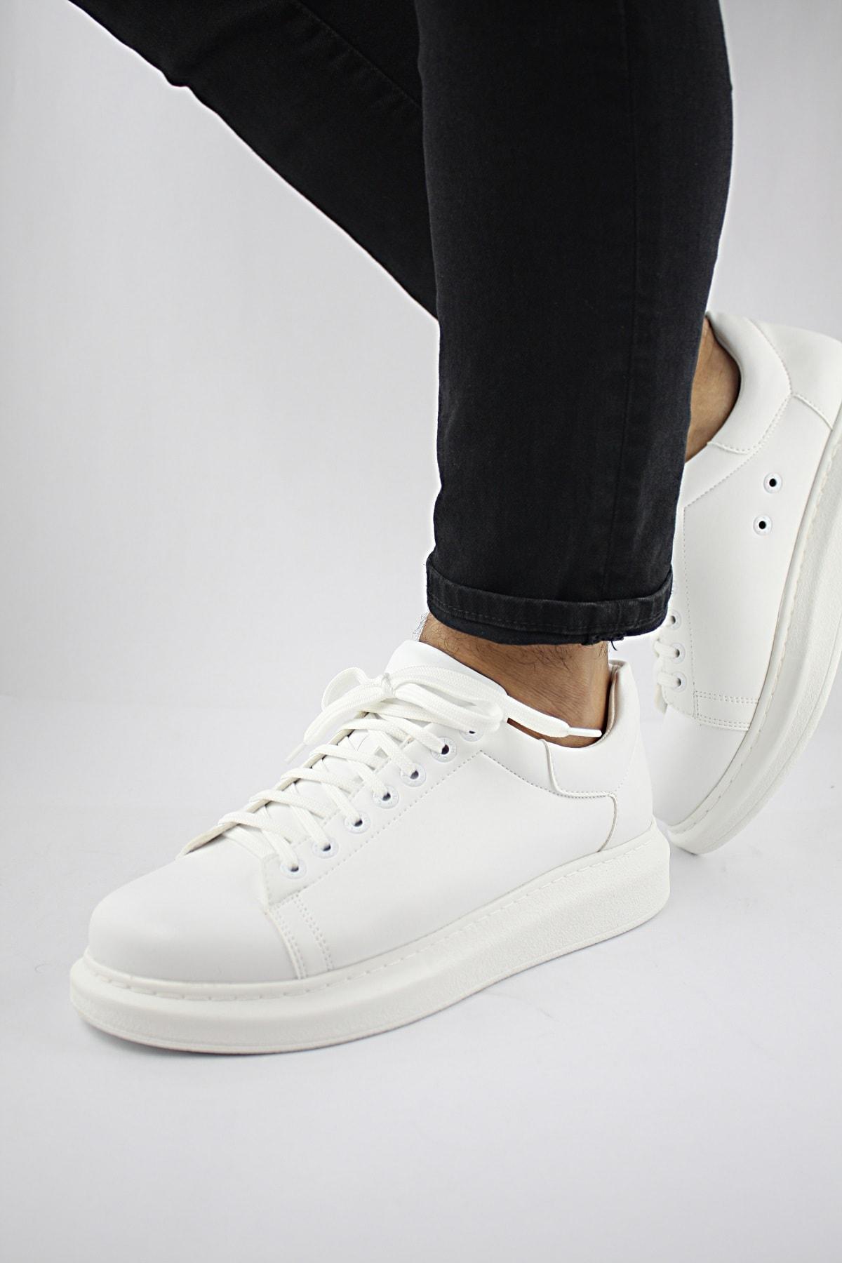 Erkek Beyaz Spor Günlük Ayakkabı dr022
