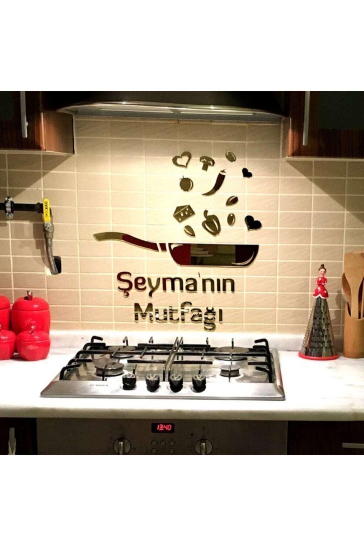 Aynalı Pleksili Duvar Dekorasyon Tava Mutfak Süsü