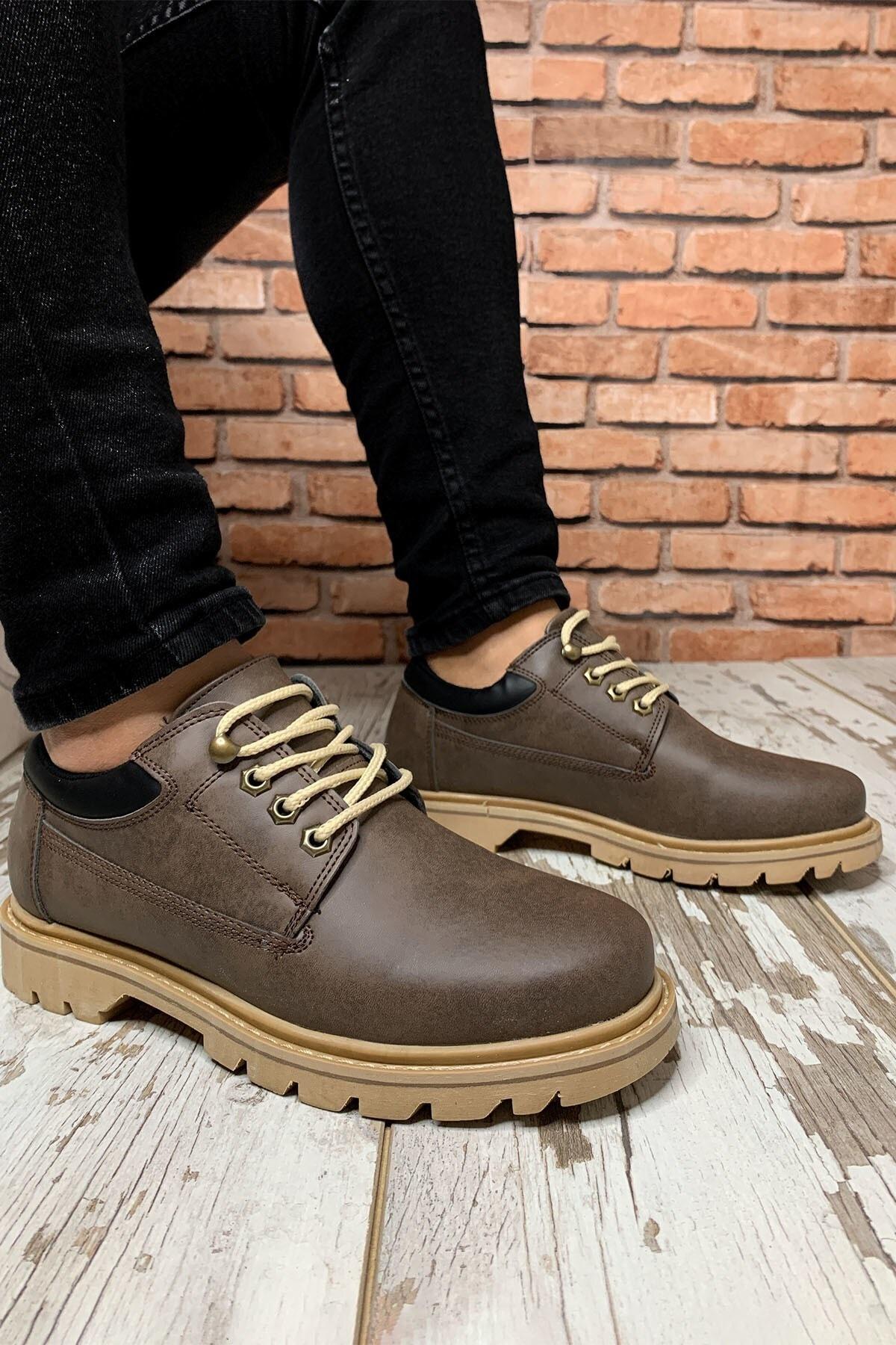 Kahverengi Erkek Trekking Ayakkabı 0012928