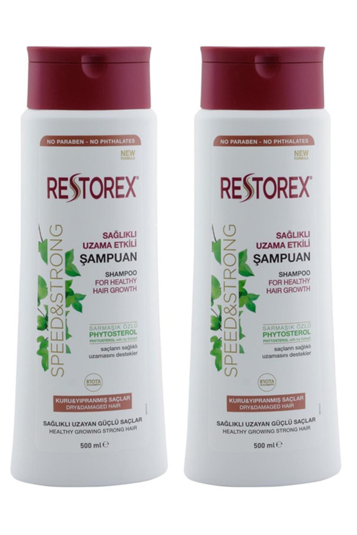 Sağlıklı Uzama Etkili  Kuru Ve Yıpanmış Saçlar İçin Sampuan  500 ml  X 2 Adet