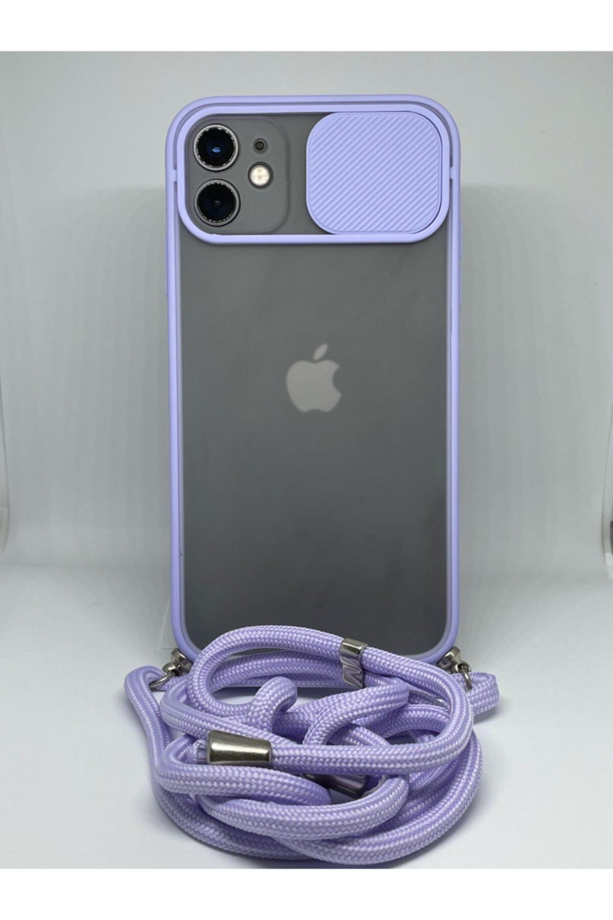 Iphone 11 Kamera Korumalı Ipli Askılı Kılıf