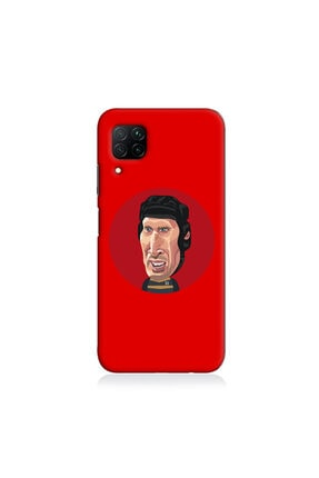 Huawei Y6 Pro Uyumlu Petr Cech Baskılı Telefon Kılıfı Kırmızı Tl635 TKBG99634