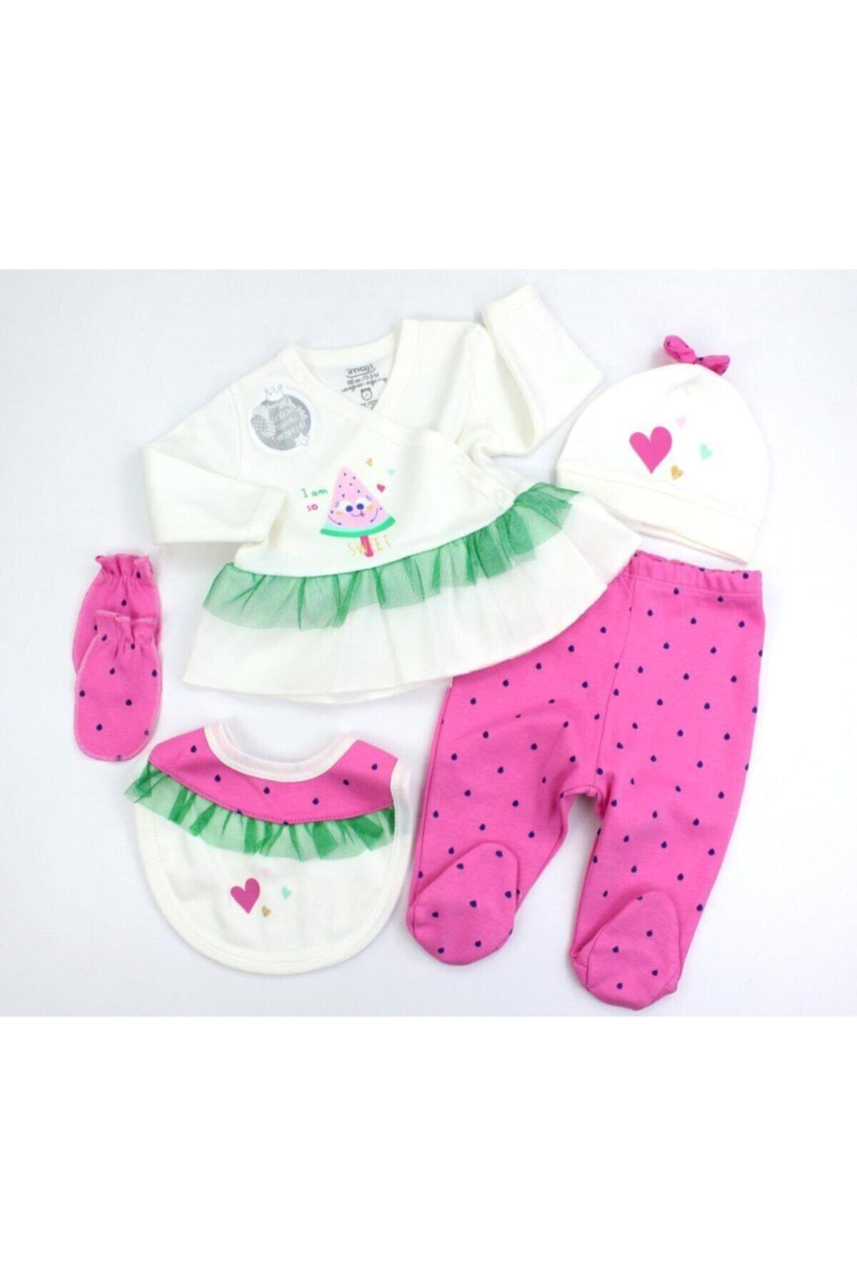Kız Bebek Pembe Karpuzlu 5li Hastane Çıkışı