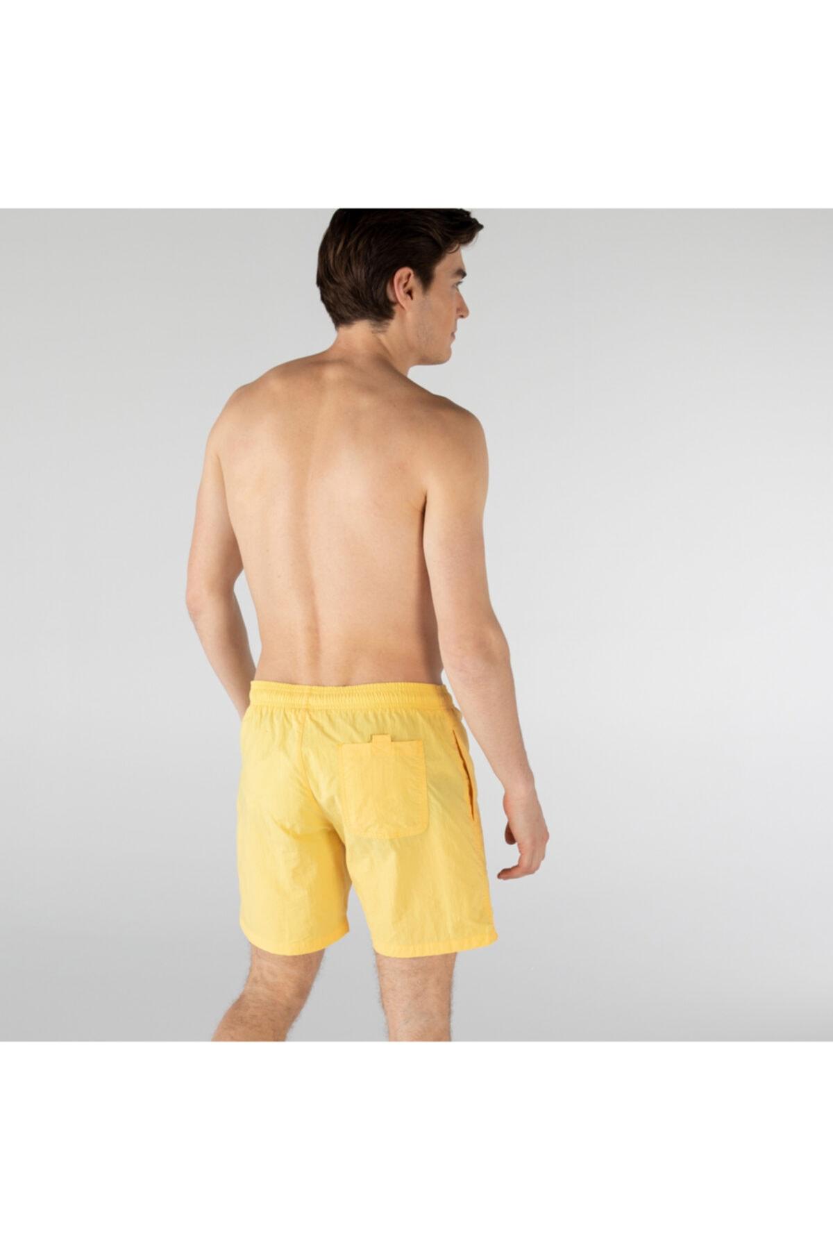 Erkek Sarı Şort Mayo