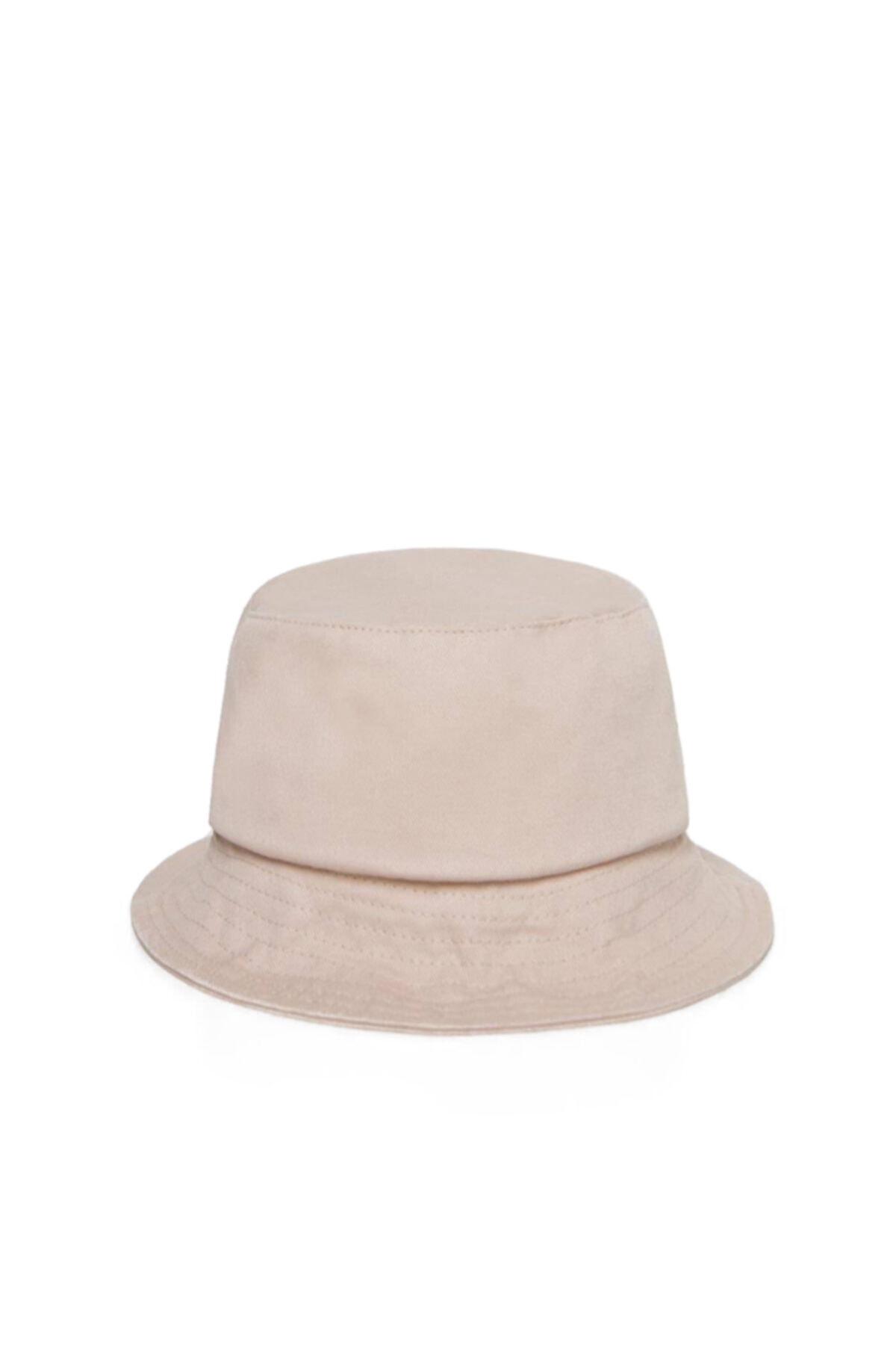 Unisex Krem Rengi Balıkçı Bucket Şapka Gc013911