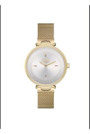 Kadın Altın Hasır Kordonlu Kol Saati MT20205L-SB72