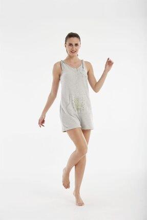 Kadın Kısa Tulum Pijama - 10394