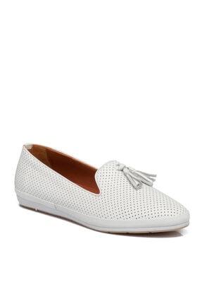 تصویر از Beyaz Deri Kadın Ayakkabı 64794a26