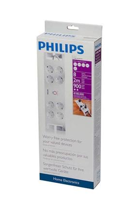Philips 2 Metre 8'li 900 Jul Akım Korumalı Priz Spn3080b 1