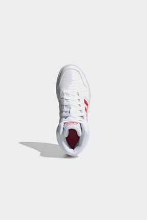 adidas HOOPS MID 2.0 K Beyaz Kız Çocuk Sneaker Ayakkabı 100663764 1