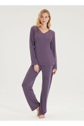 Blackspade Kadın Pijama Takımı 50299 - Menekşe 0